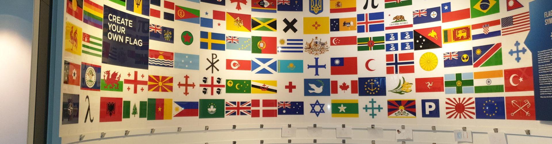 Multi-Nations Flag Gallery, Eureka (M.A.D.E) Museum Ballarat, Victoria, Australia